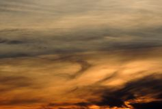 Sunset sky with clouds Stock Image