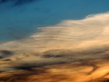 Sunset sky with clouds Royalty Free Stock Photography