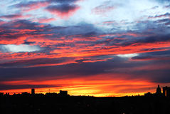 Sunset sky and clouds in edmonton royalty free stock photos