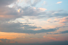 Sunset  sky with clound. Bright sunset sky with clound Royalty Free Stock Photography