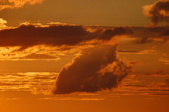 Sunset sky colors Royalty Free Stock Photos