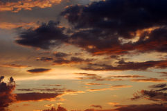 Sunset sky colors Royalty Free Stock Images