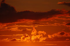 Sunset sky colors Royalty Free Stock Image