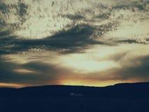 Sunset sky. Dramatic sky at sunset Stock Image