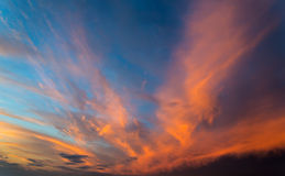 Sunset sky. Stock Photos