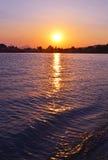 Sunset sky at Eretria beach Euboea Greece Royalty Free Stock Photos
