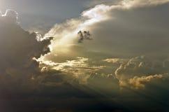 Sunset sky Gold Stock Photography