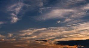 Sunset sky. Hi-res panorama. Royalty Free Stock Photography