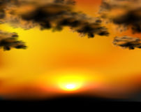 Sunset sky illustration Stock Image