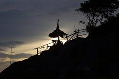 Sunset sky at Koh Sichang,Chonburi,Thailand Royalty Free Stock Photos