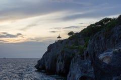 Sunset sky at Koh Sichang,Chonburi,Thailand Royalty Free Stock Image