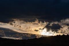 Sunset Sky Landcape. Beautiful sunset sky with dramatic light royalty free stock images