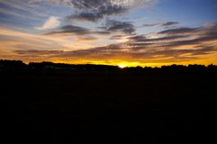 Sunset in sky. Sunset sky landscape royalty free stock images
