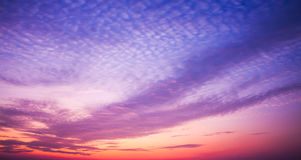 After sunset sky. Royalty Free Stock Photo