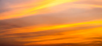 After sunset sky. The magnificent sky and clouds in last beams of the sun stock photo