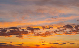 Sunset sky in March in central Ukraine Stock Photography
