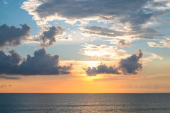 Sunset sky and the ocean Stock Photo