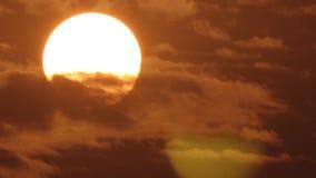 Sunset sky orange sky orange cloud outdoor summer nature.Big Sun