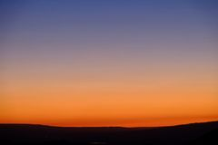 Sunset sky over Gannison Canyon. Gannison Canyon near Denver.  Colorado. United States Royalty Free Stock Photo