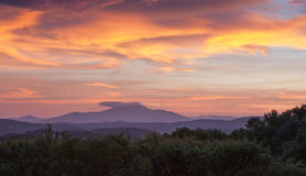 Sunset Sky Over Grandfather Mountain North Carolina Royalty Free Stock Photo