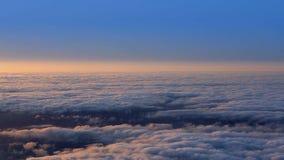 Sunset sky over haze fog in La Palma of Canary Islands stock video