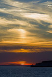 Sunset Sky over Newhaven Stock Image