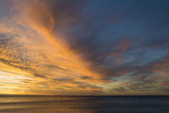 Sunset sky over Normanville Beach, South Australia Stock Images