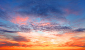 Sunset sky over the sea Royalty Free Stock Photos