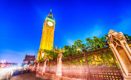 Sunset sky over Westminster Palace, London Royalty Free Stock Images