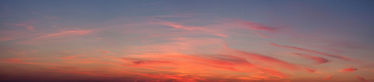 Sunset Sky Panorama Background Stock Images