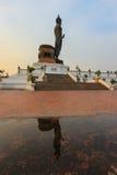 Sunset sky at  Phutthamonthon(Buddhist park in Phutthamonthon district,Nakhon Pathom Province of Thailand) Royalty Free Stock Image