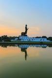 Sunset sky at  Phutthamonthon(Buddhist park in Phutthamonthon district,Nakhon Pathom Province of Thailand) Royalty Free Stock Photography