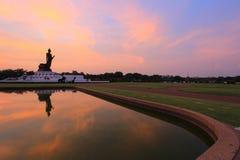 Sunset sky at  Phutthamonthon(Buddhist park in Phutthamonthon district,Nakhon Pathom Province of Thailand) Stock Photo