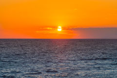 Sunset Sky and Sea beautiful scenery background Royalty Free Stock Images