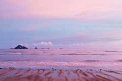 Sunset sky and sea. Thailand Royalty Free Stock Photography