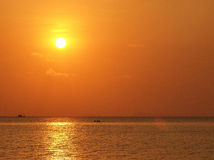 Sunset sky from seaside of the island. Seaside view from Samui island ,Thailand, sunset period Stock Images