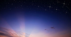 Sunset sky star background Stock Photography