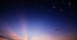 Sunset sky star background Stock Photography