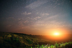 Sunset sky star background light sunrise nature for design Stock Photography