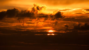 Sunset sky stormy clouds. Royalty Free Stock Photo