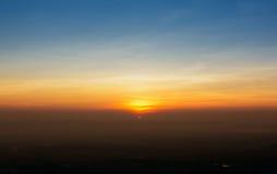 Sunset sky. The sunset sky stratosphere background Royalty Free Stock Photos