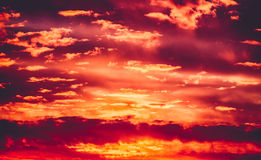 Sunset sky Royalty Free Stock Image