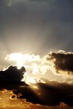 Sunset sky with sunrays Royalty Free Stock Photography