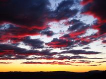 Sunset Sky in Sydney Stock Image