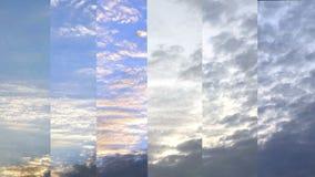 Sunset sky time lapse closeup Stock Image