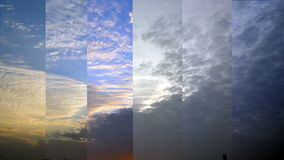 Sunset sky time lapse Royalty Free Stock Images