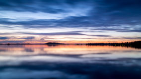 Sunset sky and water reflection Royalty Free Stock Photos