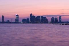 Sunset skyline. A sunset skyline in ney york manhattan Stock Photo