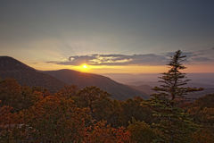 Sunset on Skyline Drive Royalty Free Stock Photos