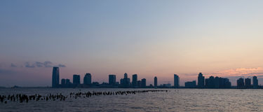 Sunset skyline panorama Stock Photos